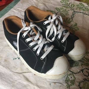 RARE 90s Skechers Chrome Dome grunge B&W Sneakers